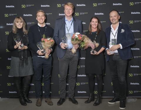Deloitte Sweden Technology Fast 50 - topp fem 2016