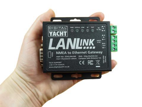 Digital Yacht launch LANLink for on board NMEA Networking