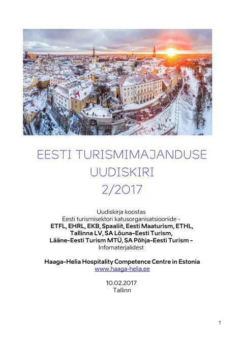 EESTI TURISMIMAJANDUSE UUDISKIRI 02/2017