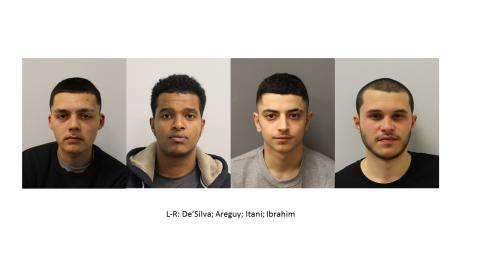 Four jailed for conspiracy to murder in Northolt