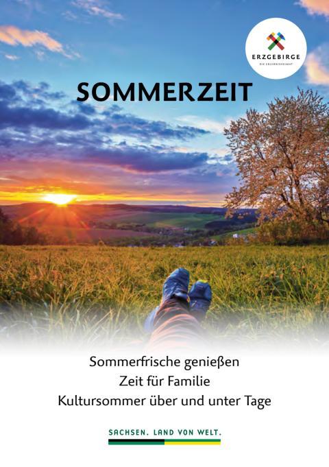 """Angebotsbroschüre """"Sommerzeit im Erzgebirge 2020"""""""