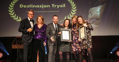 """Trysil vant Årets Reiselivsmarkedsfører under reiselivets """"Oscarutdeling"""""""