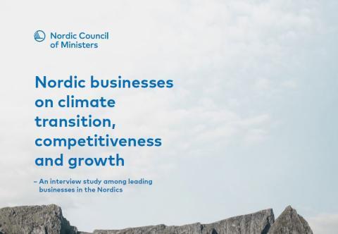 Ny rapport: Företag uppmanar till nordiskt ledarskap i klimatfrågan