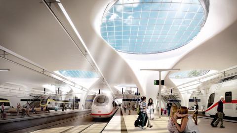 HBF Stuttgart neue Bahnsteighalle
