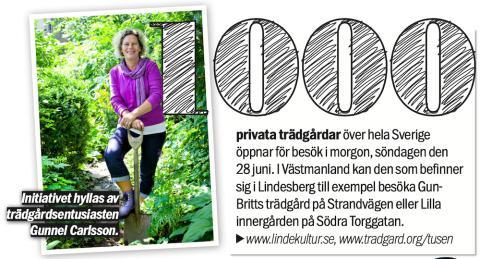 Aftonbladet tipsar om trädgårdar i Lindesberg