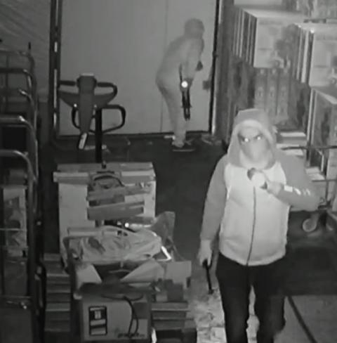 Appeal following warehouse burglary