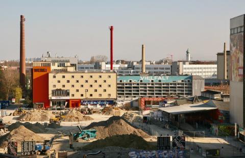 Blick auf das Werksviertel München