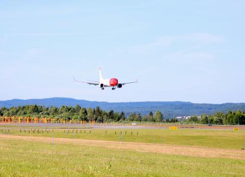 Drygt tre miljoner passagerare flög med Norwegian i juni