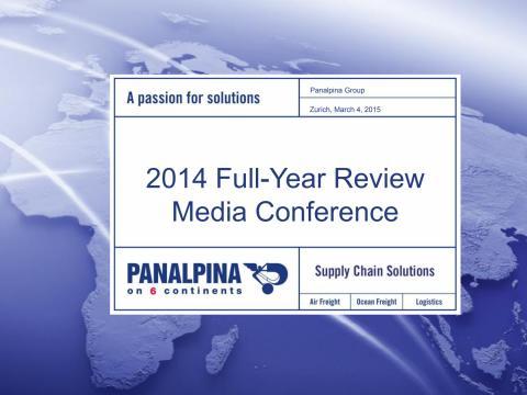 Full-Year Results 2014 – Media Presentation