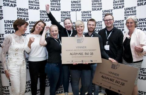 Norges beste Studentbedrift 2017 er AgriMare Bio SB fra NTNU i Ålesund.
