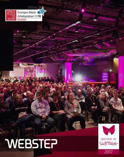 Webstep stolt sponsor och utställare på Swetugg 2017