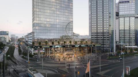 Svenska Mässans nya huvudentré och hotell- och kontorsbyggnad