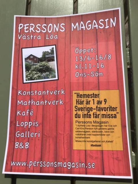 13 juni-2 juli: Konstutställning på Perssons Magasin