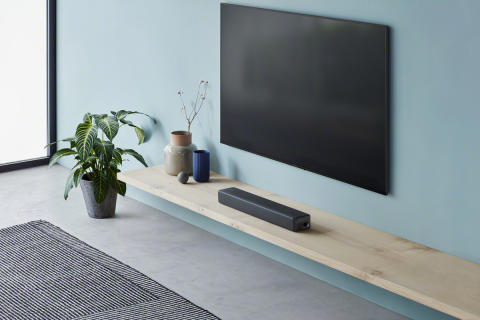 Serious sound but stylish and slim design, the new Compact Single soundbar from Sony