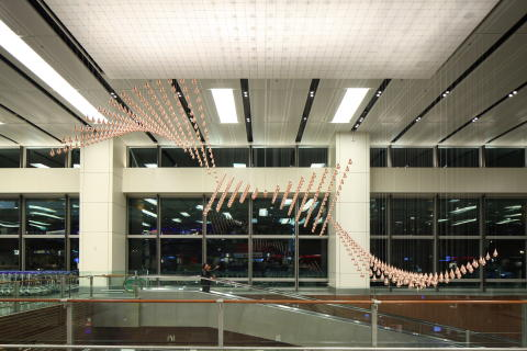 World's largest kinetic art sculpture unveiled at Changi Airport