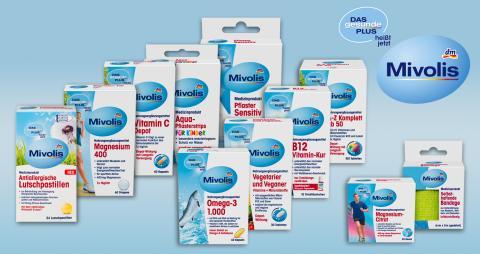 DAS gesunde PLUS heißt jetzt Mivolis – Beliebte dm-Marke erhält neuen Namen