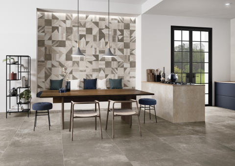 New Tiles for 2019 by Villeroy & Boch A wall and floor concept with a purist concrete look - ATLANTA: Authentic used-look for modern settings