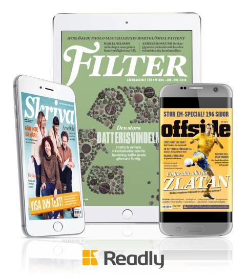 Filter, Offside och Skriva till Readly