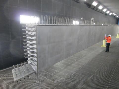 Neue Vorstrahl- und Konservierungsanlage in der sanierten Produktionshalle der Züblin Stahlbau GmbH Sande