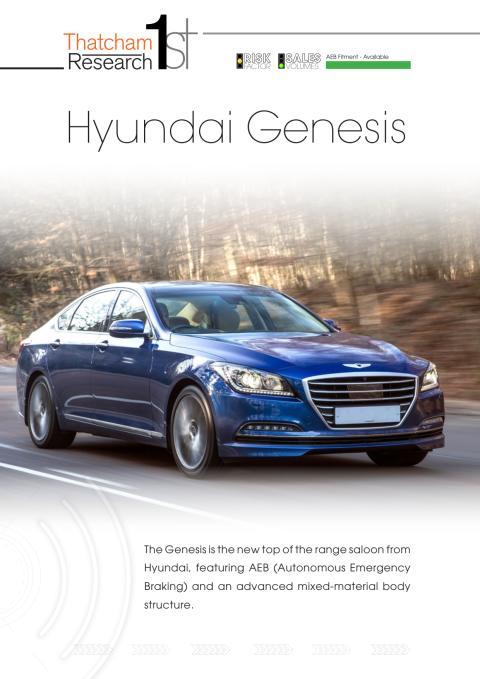 Thatcham 1st : Hyundai Genesis