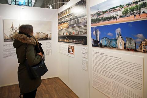 Die Straßen Lyons und Leipzigs – außergewöhnliche Panorama-Schau ist bis 2. März 2018 im Hauptbahnhof zu sehen