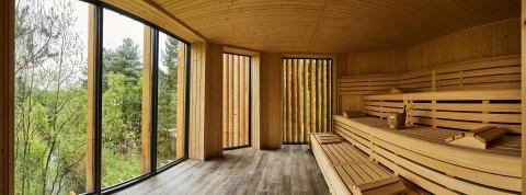 Treetop Sauna at Aqua Sana Sherwood Forest