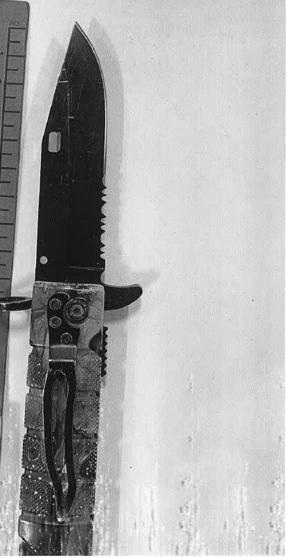 Ibrahim Saeed's knife