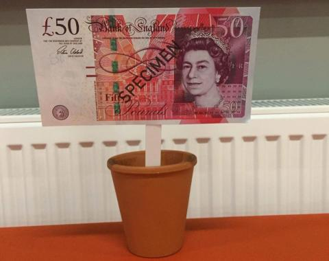 How will you grow your £50 for ellenor?