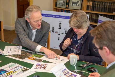 MP Visits Suffolk Farmers 'Digging' the UK's Fastest Broadband Speeds