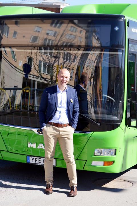 Jonas Skovgaard VD Gamla Uppsala Buss AB