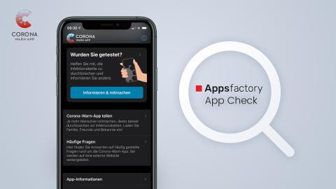 Presse Appsfactory App Check Corona-Warn-App
