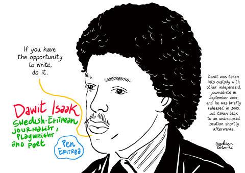 Dawit Isaak bjuds in till Bokmässan i Göteborg