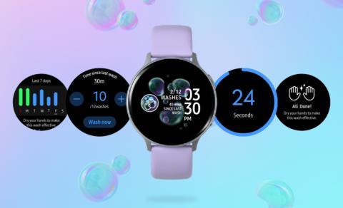 Samsung lanserer håndvask-app til sine smartklokker