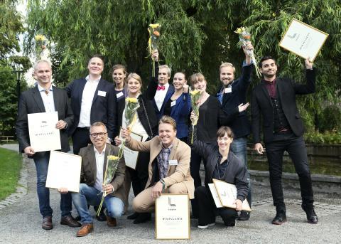 Vinnarteamet bakom Humanas äldreboende i Gävle - årets vinnare av Svenska Ljuspriset