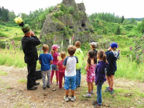 Führung für Kinder in der Binge Geyer