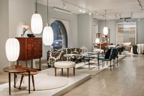 Interior picture from the exhibition Historical and Contemporary design