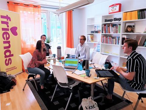 Startups i Umeå hjälper Friends utveckla kunskapsbank