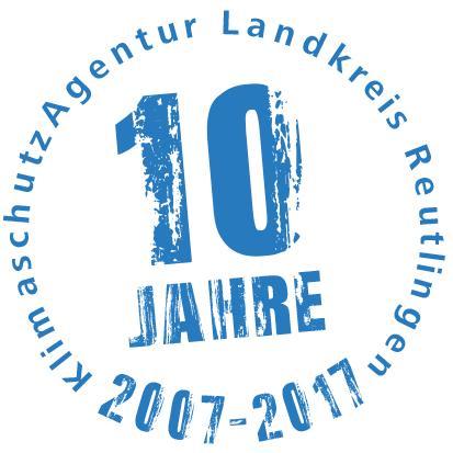 Die KlimaschutzAgentur im Landkreis Reutlingen - eine Erfolgsgeschichte wird 10 Jahre alt