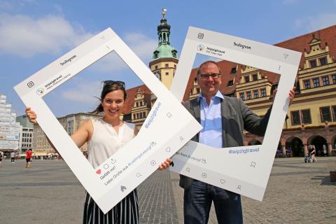 Originelle Leipzig-Motive: Der Instagram-Rahmen zum Anfassen
