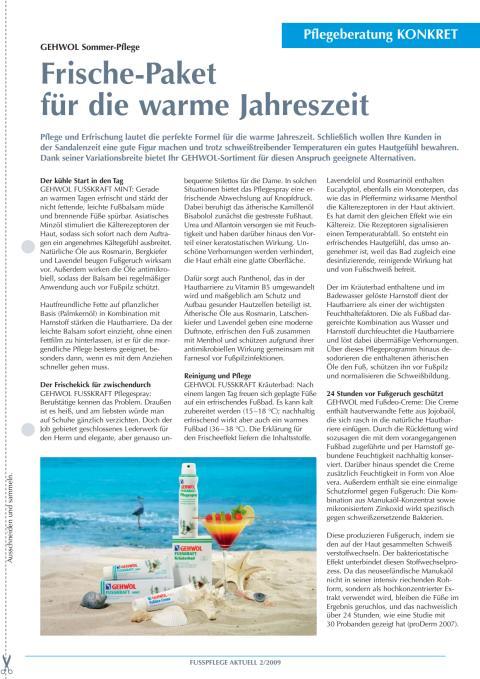 GEHWOL Sommer-Pflege: Frische-Paket für die warme Jahreszeit