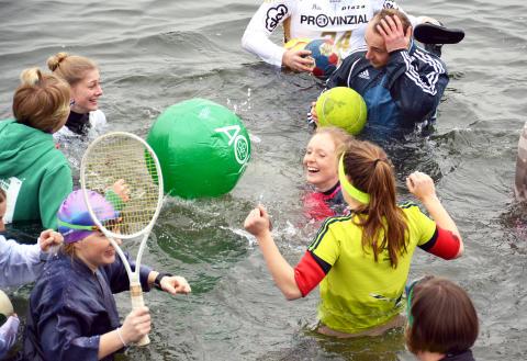 Anbaden in Kiel