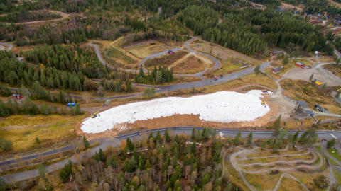 10.000 kubikkmeter mer snø