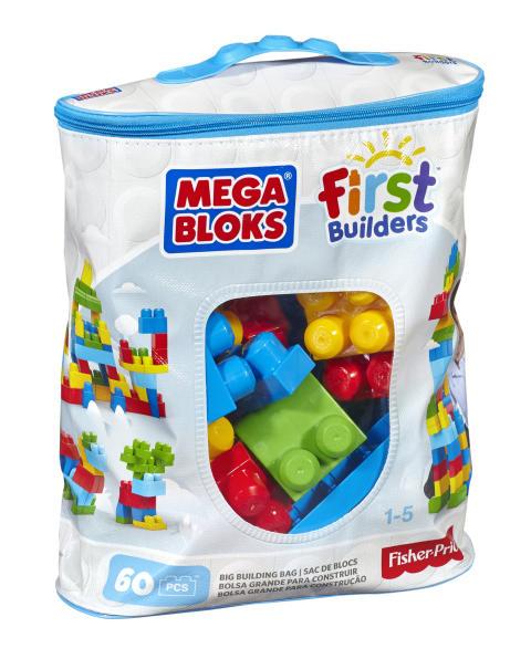 Mega Bloks Bausteinbeutel - Medium 60 Teile - Grundfarben