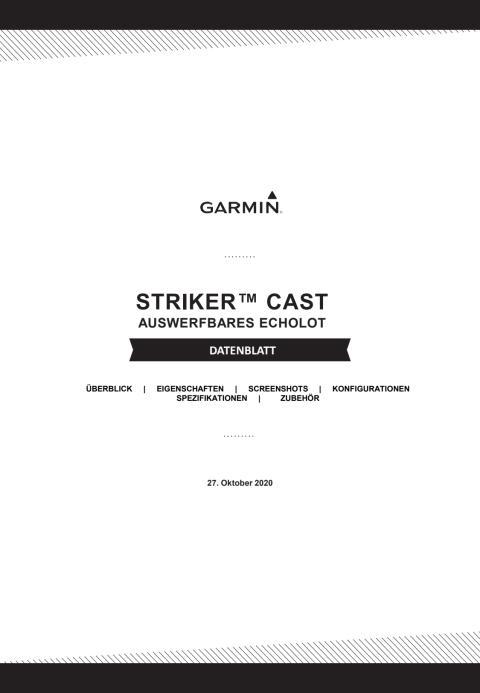 Datenblatt Garmin STRIKER Cast
