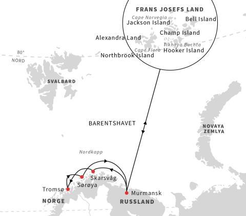 Hurtigruten til Russland