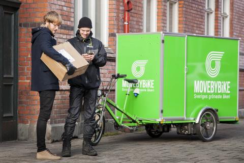 MOVEBYBiKE erbjuder framtidssäkrad distribution och bud