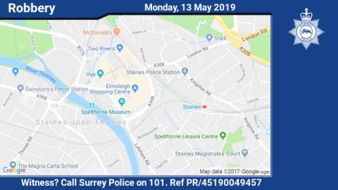 Witness appeal following robbery in Staines-upon-Thames