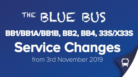 BB1/BB1A/BB1B, BB2, BB4 and 33S/X33S Service Changes