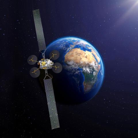 Le satellite KONNECT d'Eutelsat prêt pour rejoindre son site de lancement