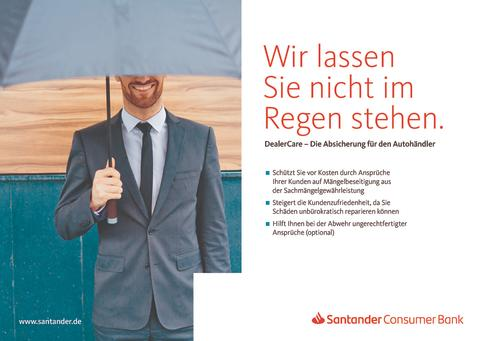 Santander startet mit DealerCare neues Versicherungsprodukt für den Kfz-Handel